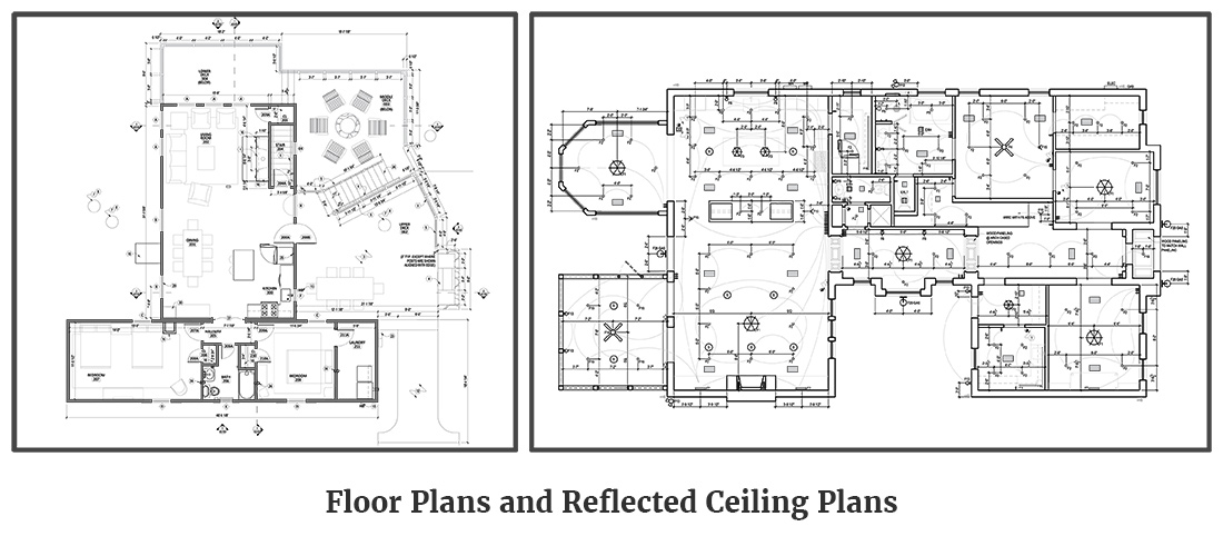 Floor Plans and Reflected Ceiling Plans - Woolf Architecture